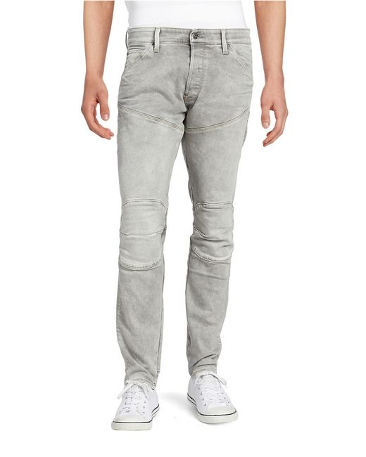 g star raw tapered straight leg jeans in metallic for men lyst. Black Bedroom Furniture Sets. Home Design Ideas