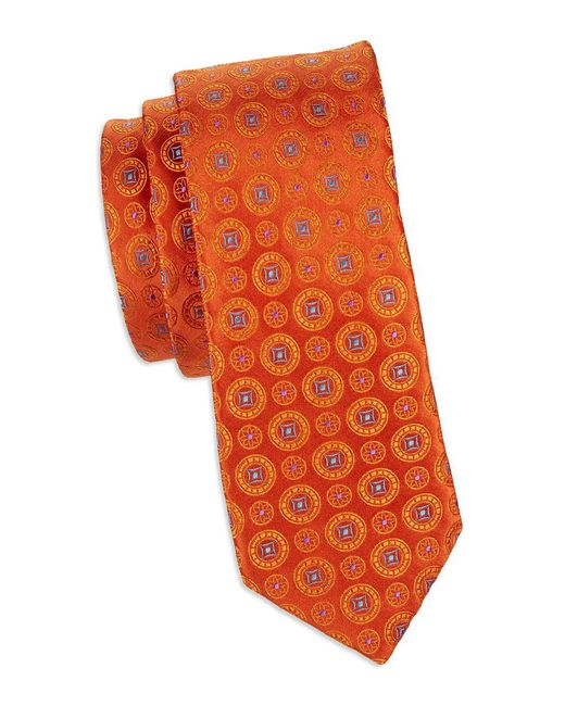 Ted Baker - Orange Medallion Silk Tie for Men - Lyst
