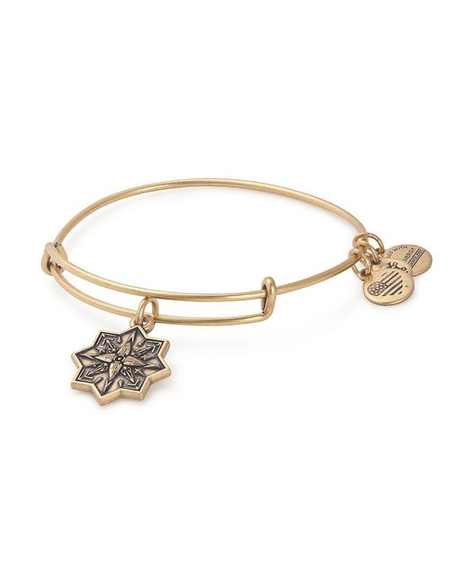 8e5879eaac54ba ALEX AND ANI - Metallic Healing Love Charm Bangle - Lyst ...