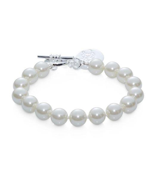 Lauren by Ralph Lauren | Metallic Faux Pearl Strand Bracelet | Lyst