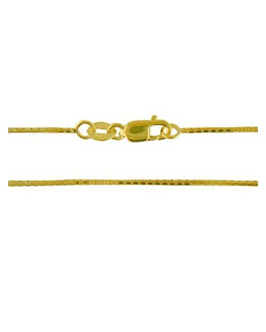 Lord & Taylor   Metallic 14k Yellow Gold Box Chain 18 In.   Lyst