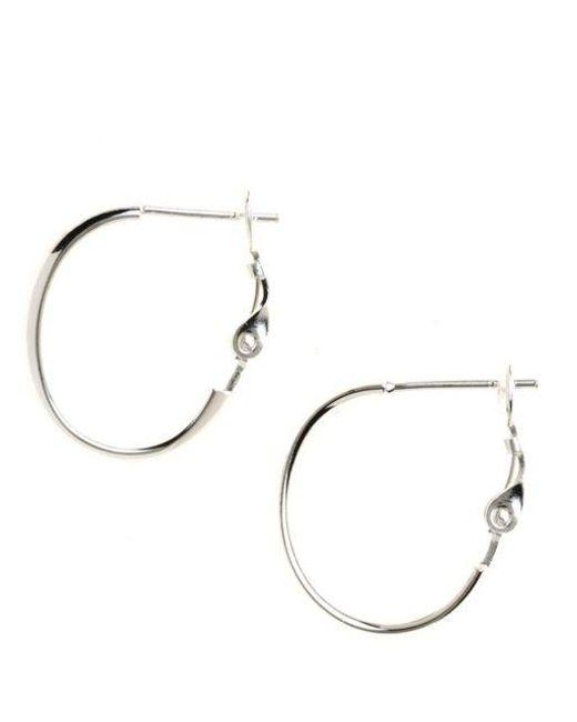 Lord & Taylor | Metallic Sterling Silver J-hoop Earrings | Lyst