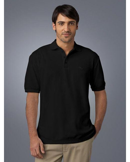 Tommy bahama emfielder polo shirt in black for men save for Tommy bahama polo shirts on sale