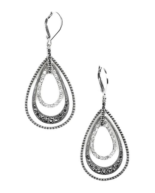 Judith Jack | Metallic Orbital Triple Teardrop Hoop Earrings | Lyst