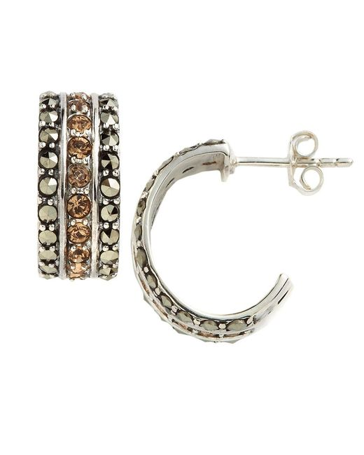 Lord & Taylor | Metallic Embellished Cuff Hoop Earrings | Lyst