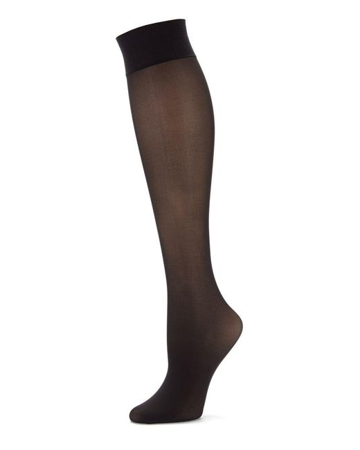 Hue | Black Revitalizing Opaque Knee Hi Socks | Lyst