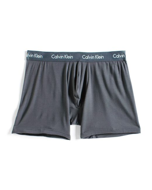 Calvin Klein | Gray Logo Waist Boxer Briefs for Men | Lyst