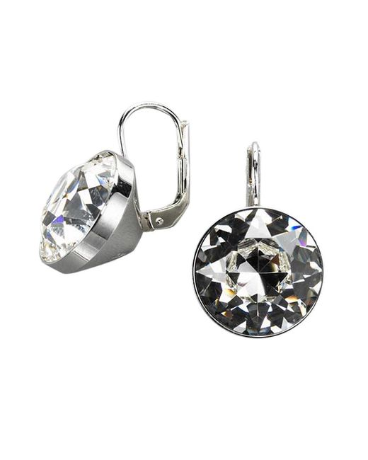 Swarovski | Metallic Bezel-set Crystal Drop Earrings | Lyst