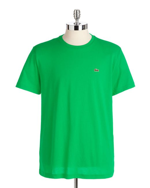 Lacoste | Green Pima Jersey Tee for Men | Lyst