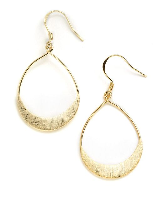 Lord & Taylor | Metallic 18k Gold Over Sterling Silver Teardrop Earrings | Lyst