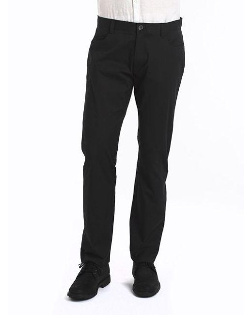 Calvin Klein | Black Four-pocket Sateen Pants for Men | Lyst