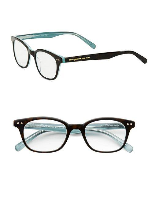 kate spade new york   Black Rebec Tortoise-print Eyeglasses   Lyst