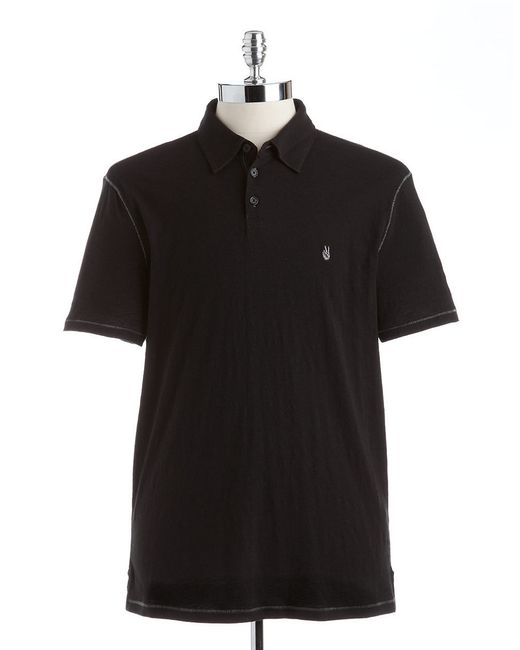 John Varvatos | Black Peace Polo for Men | Lyst