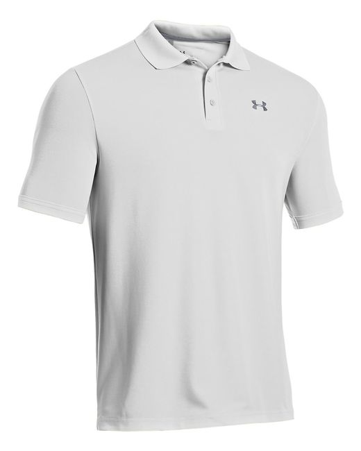 Under Armour | White Performance Polo for Men | Lyst