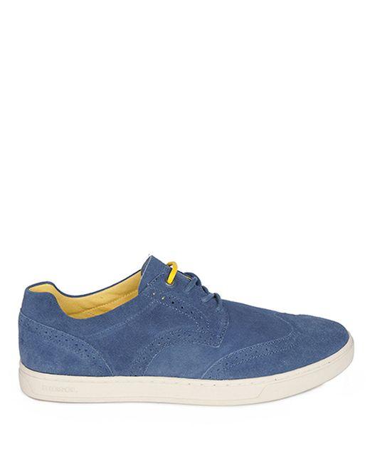 DIESEL   Blue Primetivers Leather Wingtip Sneakers for Men   Lyst