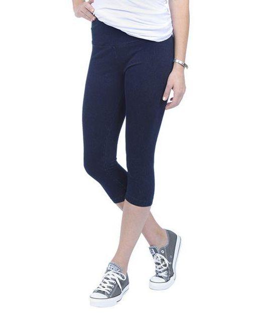 Lyssé | Blue Plus Perfect Denim Capri Pants | Lyst