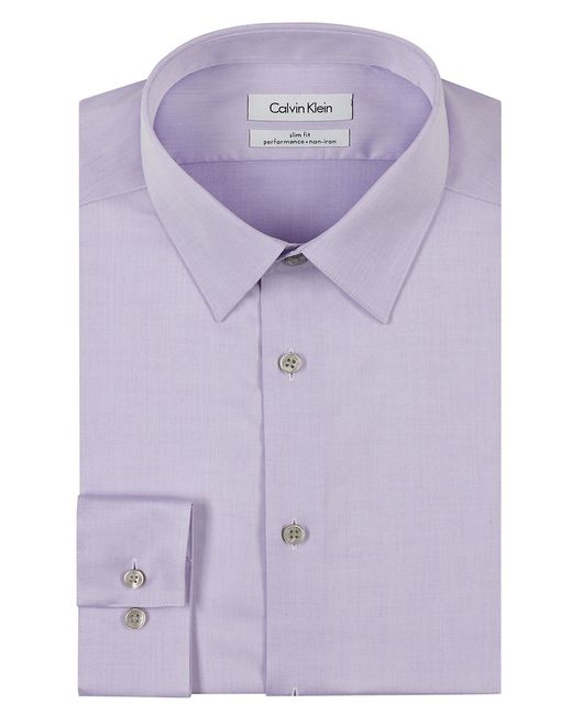 Calvin Klein | Purple Slim Fit Dress Shirt for Men | Lyst