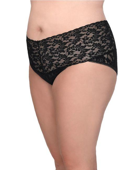 Hanky Panky | Black Plus Size Retro Lace V-kini Panty | Lyst