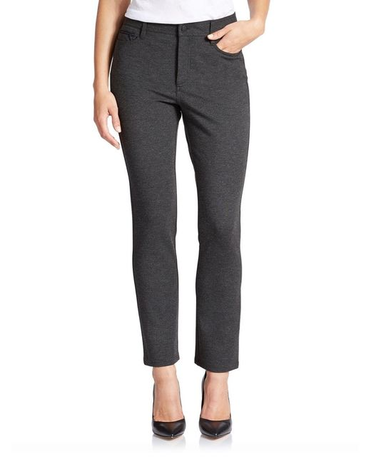 NYDJ | Gray Petite Solid Jeggings | Lyst
