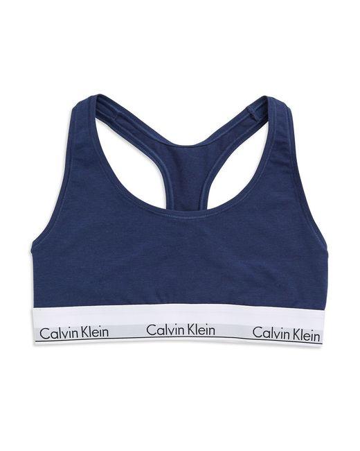 Calvin Klein | Blue Modern Cotton Bralette | Lyst