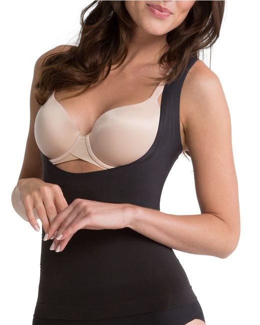Spanx | Black Shape My Day Open-bust Plus-size Camisole | Lyst
