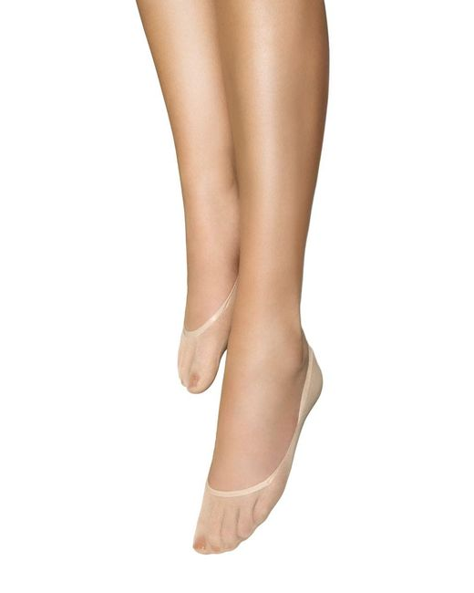 Wolford | Natural Sheer Footsies Tights | Lyst