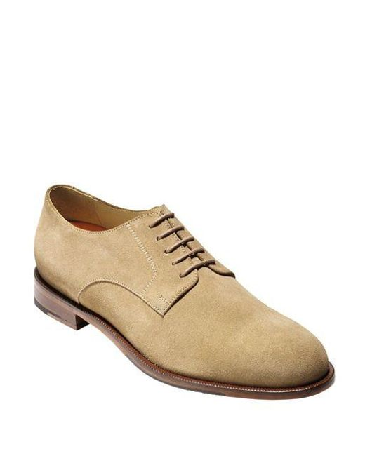Cole Haan | Natural Carter Grand Suede Plain Toe Oxfords for Men | Lyst