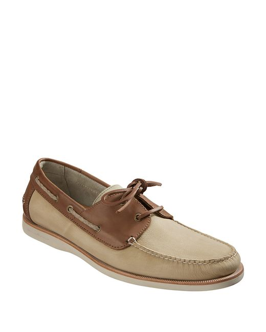 Tommy Bahama | Brown Brody Leather Two-tone Boat Shoes for Men | Lyst