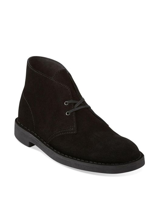 Clarks | Black Bushacre 2 Suede Chukka Boots for Men | Lyst