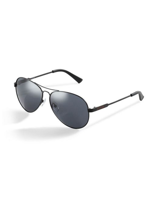 Guess | Black Classic Aviator Sunglasses for Men | Lyst