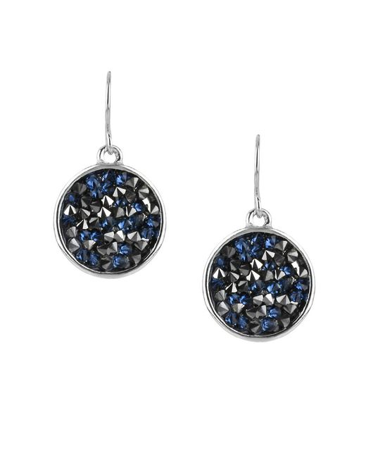 Kenneth Cole | Black Beaded Disc Drop Earrings | Lyst
