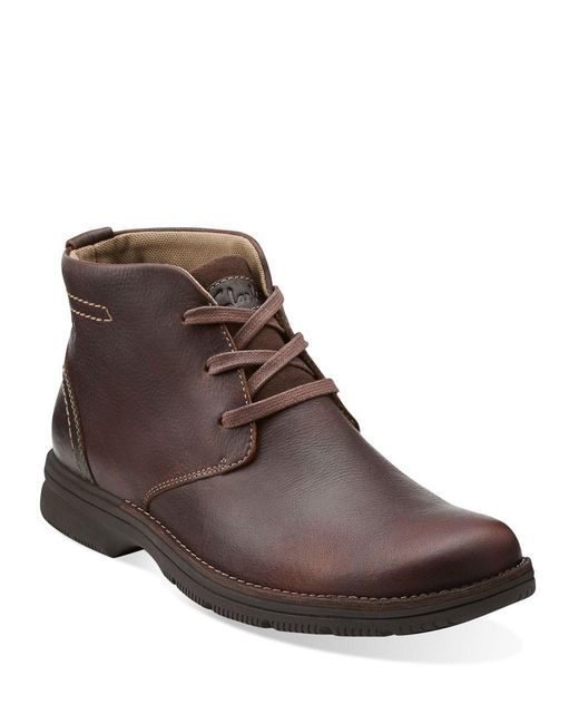Clarks | Brown Senner Drive Leather Boots for Men | Lyst