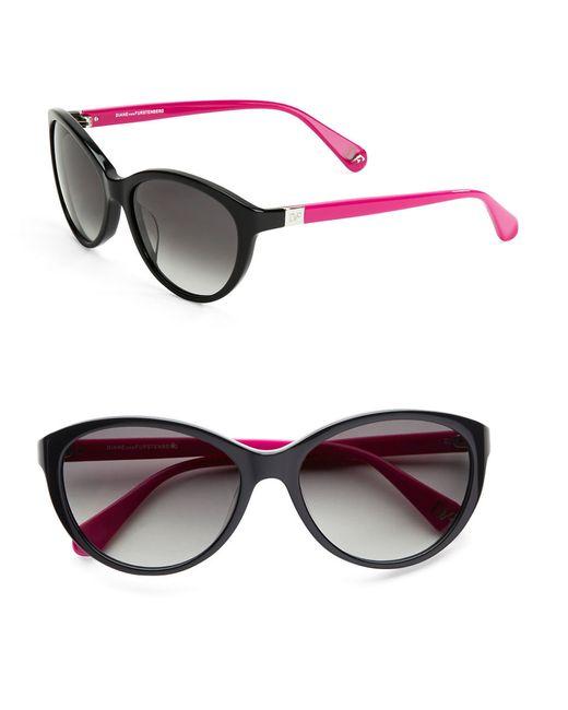 Diane von Furstenberg   Black Blair 56mm Cat Eye Sunglasses   Lyst