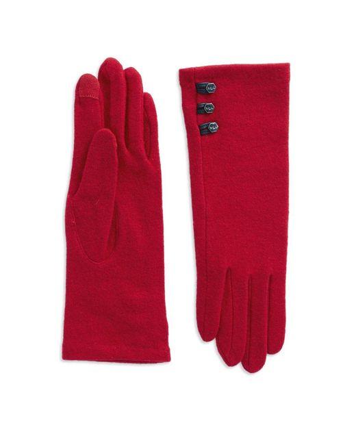 Lauren by Ralph Lauren | Red Three-button Touch Gloves | Lyst
