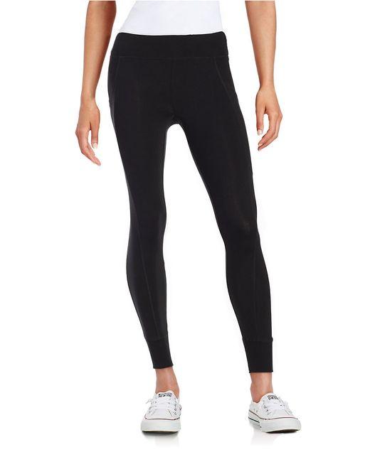 Calvin Klein | Black Cotton-stretch Jogger Leggings | Lyst