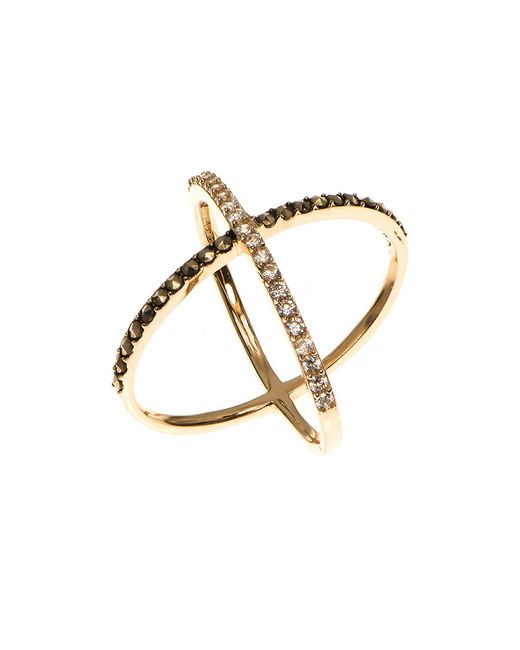 Judith Jack | Metallic Cubic Zirconia, Marcasite And 10k Goldplated Sterling Silver X Ring | Lyst