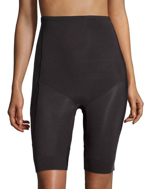 Miraclesuit | Black Derriere Lift Thigh Control High Waist Long Leg Slimmer | Lyst