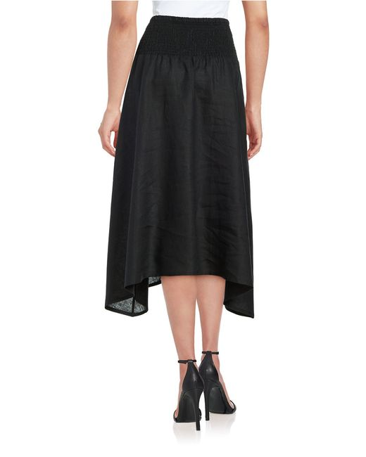 eileen fisher linen a line skirt in black save 25 lyst