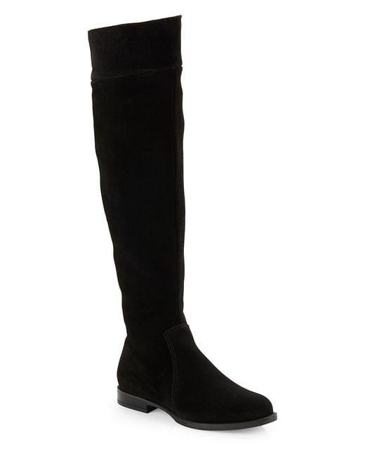 la canadienne skyler suede boots in black lyst
