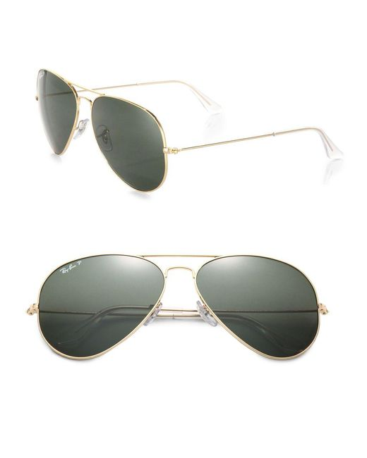 Ray-Ban | Metallic Original 62mm Aviator Sunglasses | Lyst