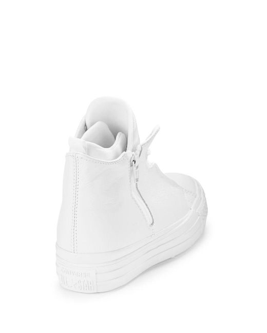converse leather chuck all selene mid top