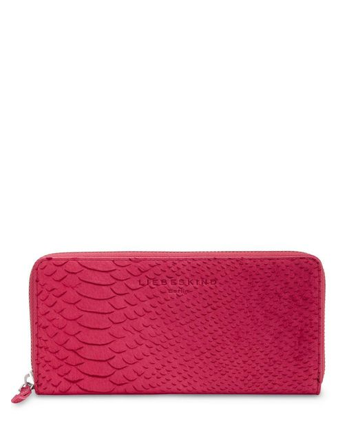 Liebeskind Berlin | Red Python Embossed Leather Wallet | Lyst