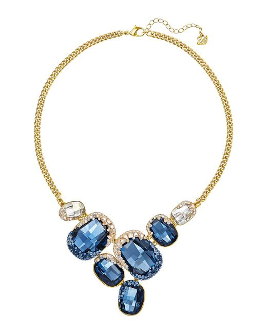 Swarovski | Blue Abstract Silvertone Crystal Pendant Necklace | Lyst