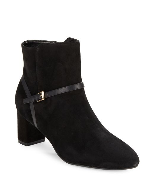 cole haan sylvan suede ankle boots in black lyst