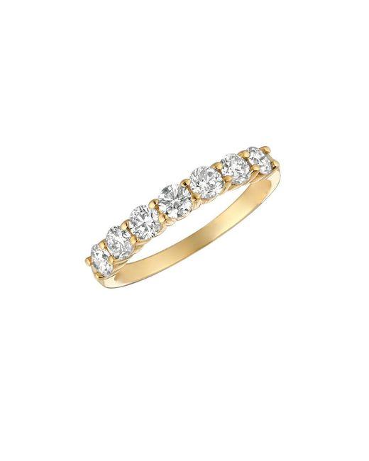 Morris & David | Metallic Diamond Ring In 14 Kt. Yellow Gold | Lyst