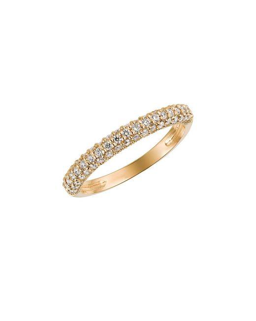 Morris & David   Metallic Diamond Ring In 14 Kt. Yellow Gold   Lyst