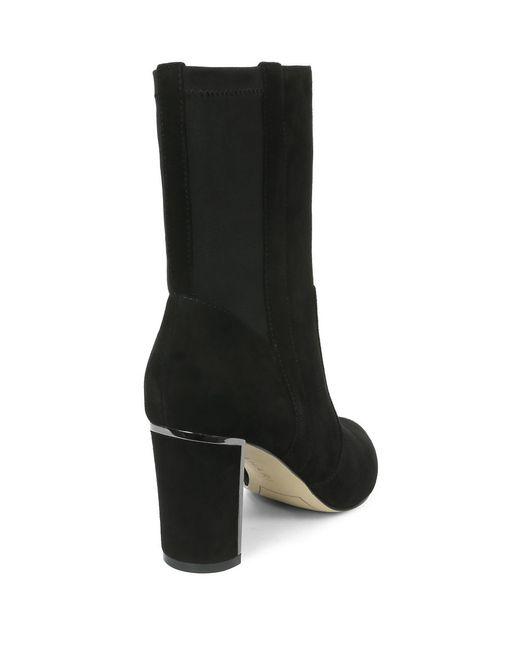 tahari ciel suede boots in black lyst