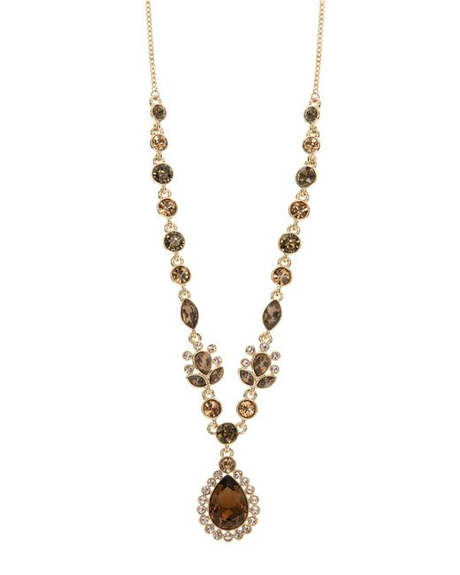 givenchy topaz and crystal pendant necklace in metallic
