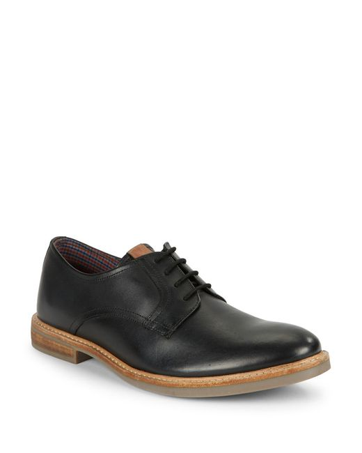 Ben Sherman | Black Birk Suede Oxfords for Men | Lyst