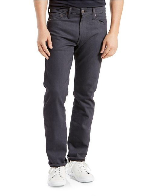Levi's 513 Slim Straight Fit Jeans in Gray for Men